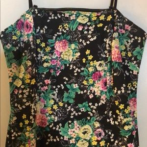 Laundry By Shelli Segal Dresses - Laundry Black Floral Strapless Dress